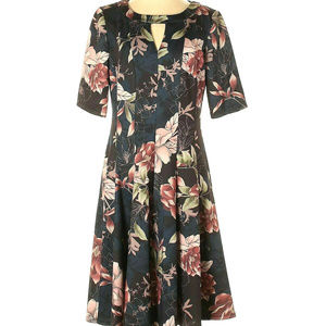 Roz & Ali Floral Fit & Flare Dress Size 18